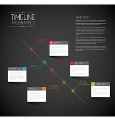 Infographic dark diagonal timeline report template vector