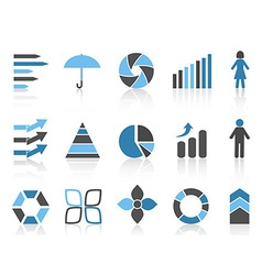 infographic element icons set vector image