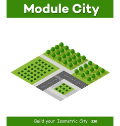 isometric 3d trees forest vector image