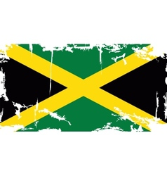 Jamaican grunge flag vector