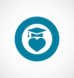 love education icon bold blue circle border vector image