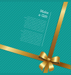 make a gift certificate or greeting card design vector image
