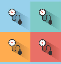medical tonometer icon with shadow on colored vector image