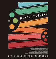movie festival poster design vector image