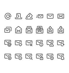outline mail icon mailbox envelope email inbox vector image