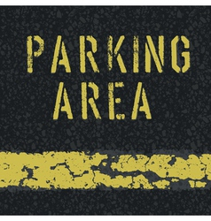 parking area sign on asphalt vector image