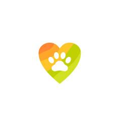 Pet love logo logo vector