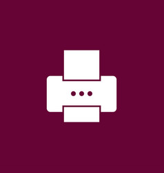printer icon simple vector image