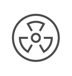 Radioactive substance icon vector