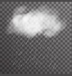 Realistic cloud smoke fog transparent background vector
