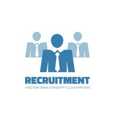Recruitment agency - logo template vector