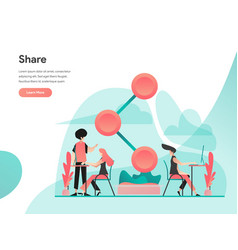 share concept modern flat design concept web vector image