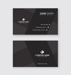 simple creative professional business card vector image