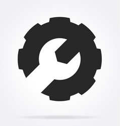spanner and gear settings service icon logo vector image