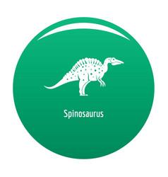Spinosaurus icon green vector