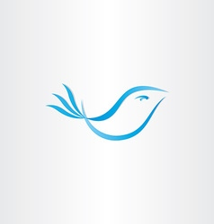 stylized blue bird vector image