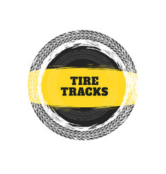 tire tracks circular frame background vector image