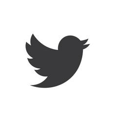 Twitter logo flat twitter social media symbol vector