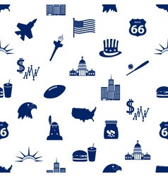 united states of america country theme icons vector image