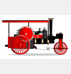 Vintage steam roller vector