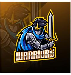Warriors sport mascot logo design vector