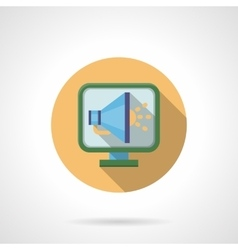 Web announcement round flat color icon vector image
