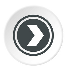 Arrow to right in circle icon circle vector
