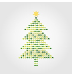 christmas tree on a white background a vector image