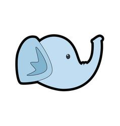 elephant head cartoon vector image vector image