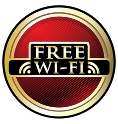 Free WiFi Red Label vector image vector image