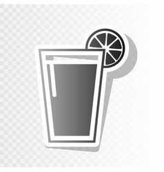 glass of juice icons new year blackish vector image vector image