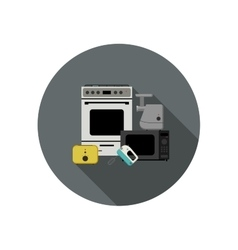Household appliances icon vector image