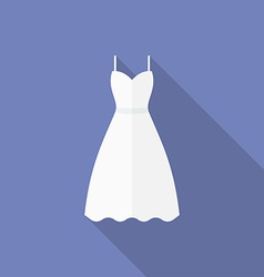 Icon of a wedding dress Flat style vector image vector image
