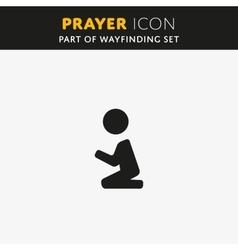 pray Icon vector image vector image