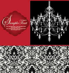 Romantic Invitation Card Design vector image