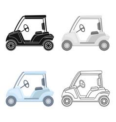 Car for golfgolf club single icon in cartoon vector