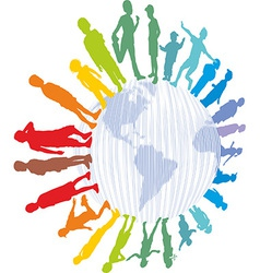 Children from around the world vector image vector image