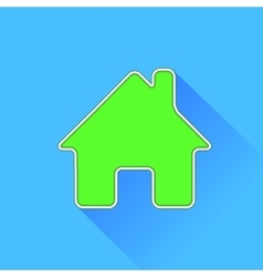 Green Home Icon vector image vector image