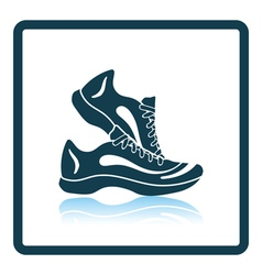 Icon of Fitness sneakers vector image