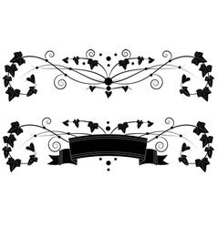 ivy set vector image vector image