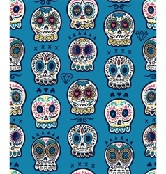 Mexican day of the dead Colorful skull cute vector image vector image