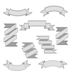 set of ribbon banners vector image vector image