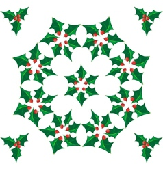 Wreath Of Mistletoe vector image