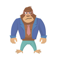 Annoyed gorilla of gorilla vector