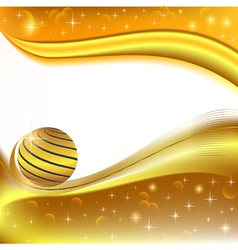 background with golden ball and the wave vector image