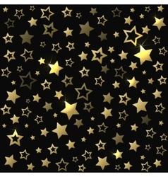 Gold shine stars christmas seamless pattern vector