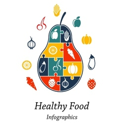 Healthy food infographics vector image vector image