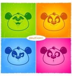 panda emotions vector image