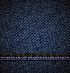 Background of blue denim vector image