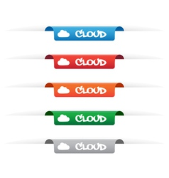 Cloud paper tag labels vector image